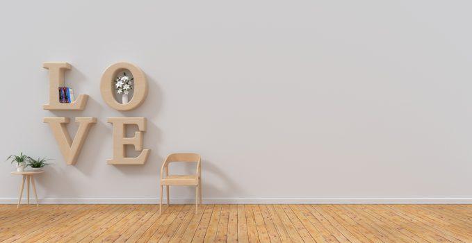 Lettering idee per arredare e decorare casa con lettere e for Lettere in metallo per arredare