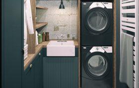 Lavanderia in una casa piccola